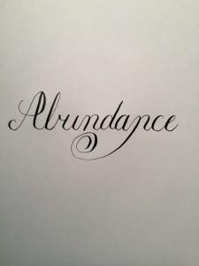 Abundance Word of the Year